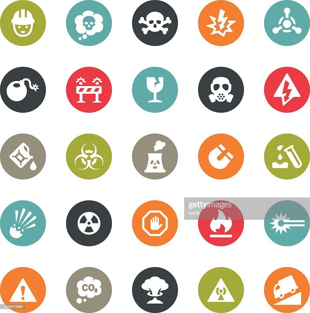 Danger and Destruction icons / Ringico series : stock illustration