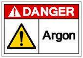 Danger Argon Symbol Sign ,Vector Illustration, Isolate On White Background Label. EPS10
