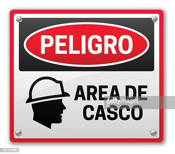 danger casco area - spanish culture stock illustrations