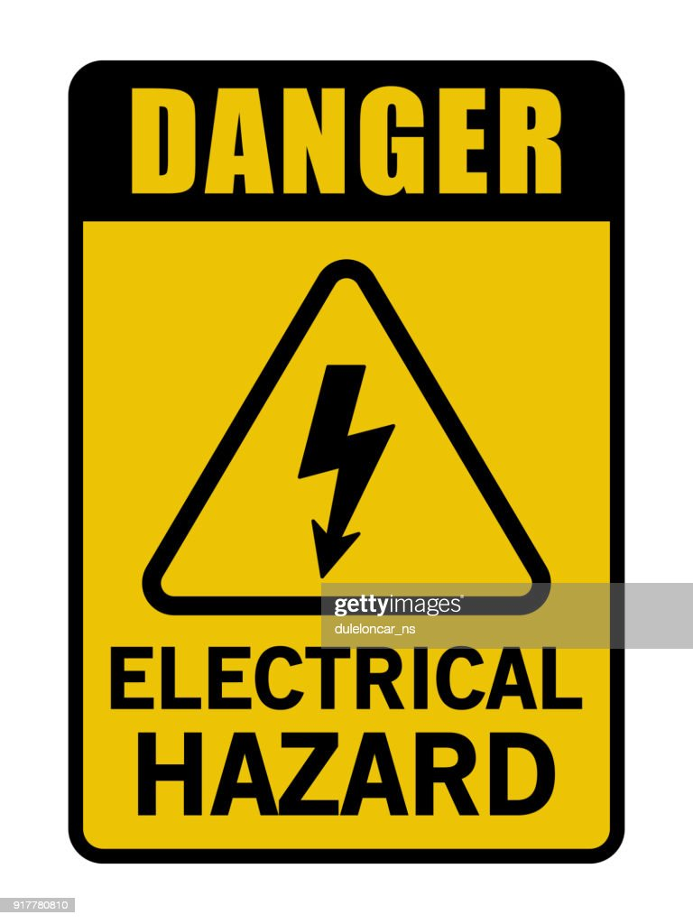 Danger Electrical Hazard Triangle Sign