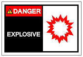 Danger Explosive Symbol Sign,Vector Illustration, Isolated On White Background Label. EPS10