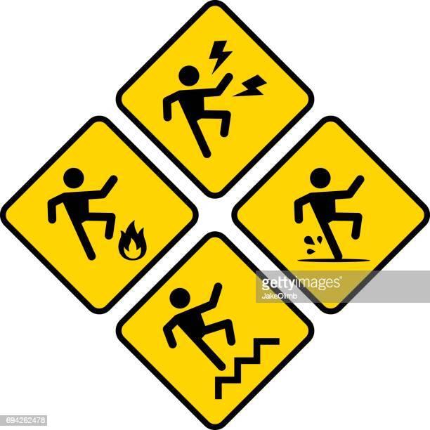 danger icon set - splashing droplet stock illustrations, clip art, cartoons, & icons