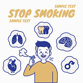 Danger of smoking, Disease from tobacco, Stop smoking concept