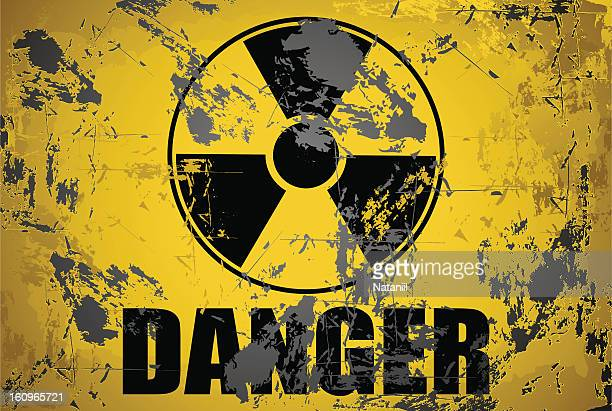 danger radiation - nuclear fallout stock illustrations