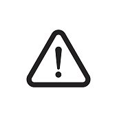 Danger sign vector icon. Attention caution illustration. Business concept simple flat pictogram on white background.
