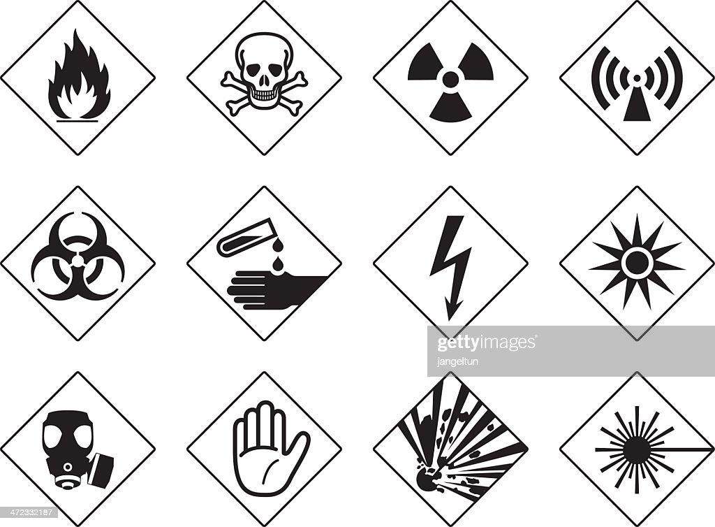 Danger Symbols Vector Art Getty Images