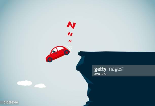 danger - cliff stock illustrations