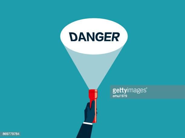 danger - flashlight beam stock illustrations, clip art, cartoons, & icons