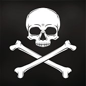 Danger warning sign. Pirate insignia concept. Poison icon illustration