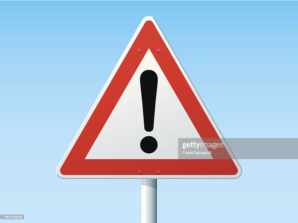 Dangerous Area German Warning Sign : stock illustration