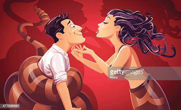 dangerous love - flirting stock illustrations, clip art, cartoons, & icons