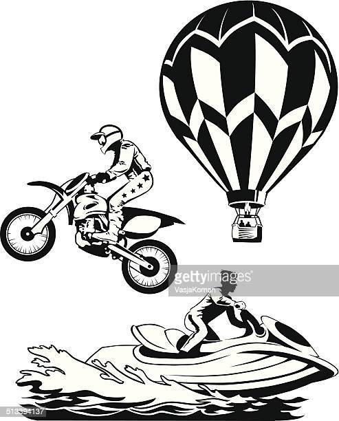 dangerous sports - motorcycle helmet isolated stock illustrations, clip art, cartoons, & icons