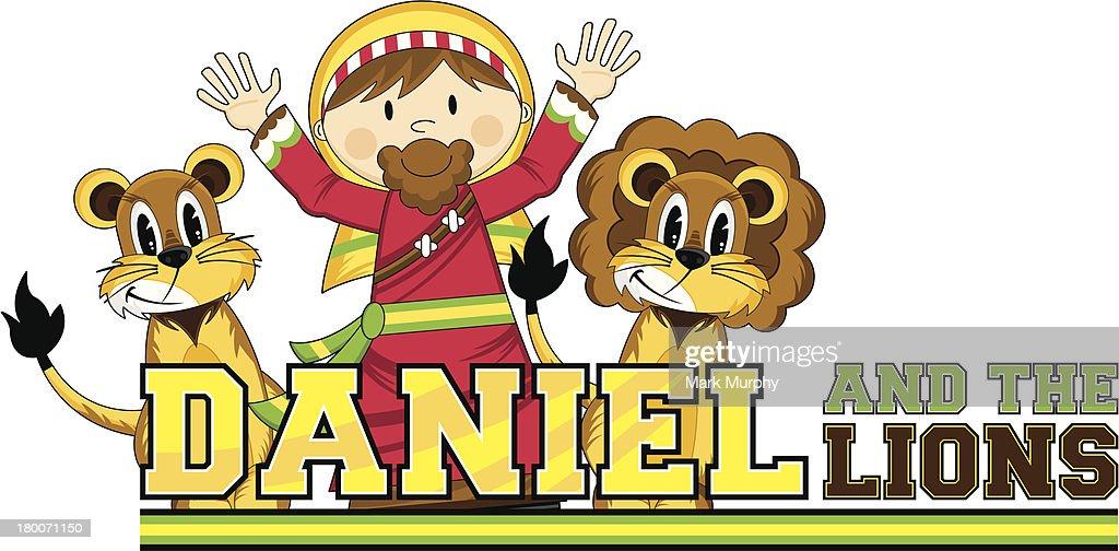 Daniel & the Lions Bible Illustration