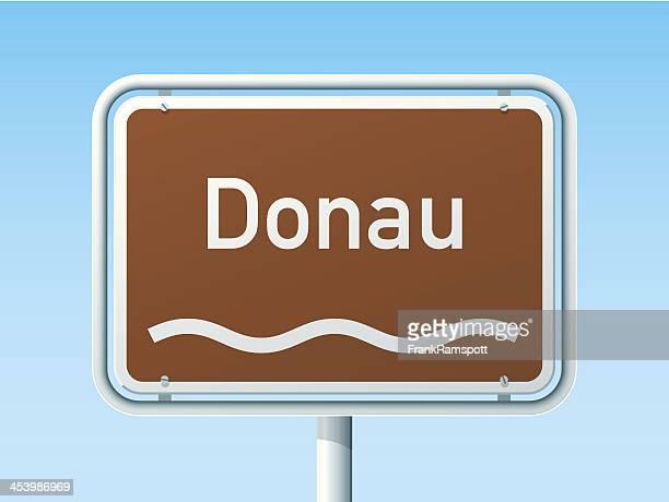 Donau deutsche Road Sign