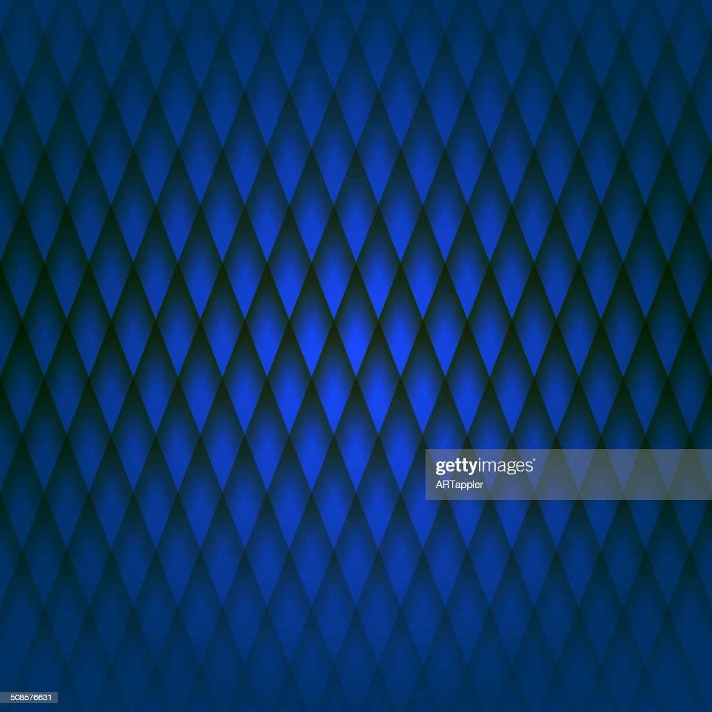 Darc blue geometric fabric pattern : Vector Art