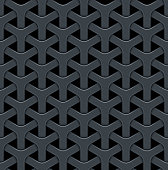 Dark abstract vector background with a metal grid.