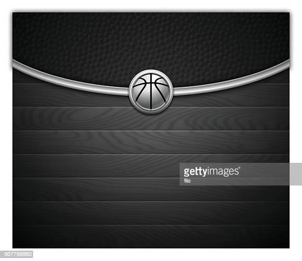illustrations, cliparts, dessins animés et icônes de fond sombre de basket-ball - ballon de basket