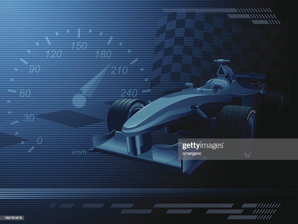 A dark blue and black background representing racecar events