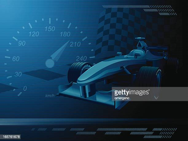a dark blue and black background representing racecar events - race car stock illustrations, clip art, cartoons, & icons