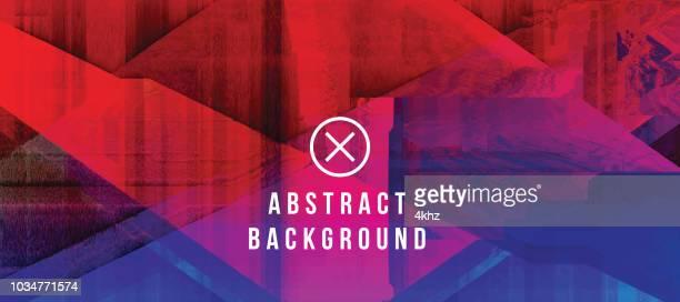 ilustraciones, imágenes clip art, dibujos animados e iconos de stock de fondo de grunge abstracto azul oscuro y rojo falla digital - rojo