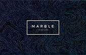 Dark blue marble background. Vector trendy texture
