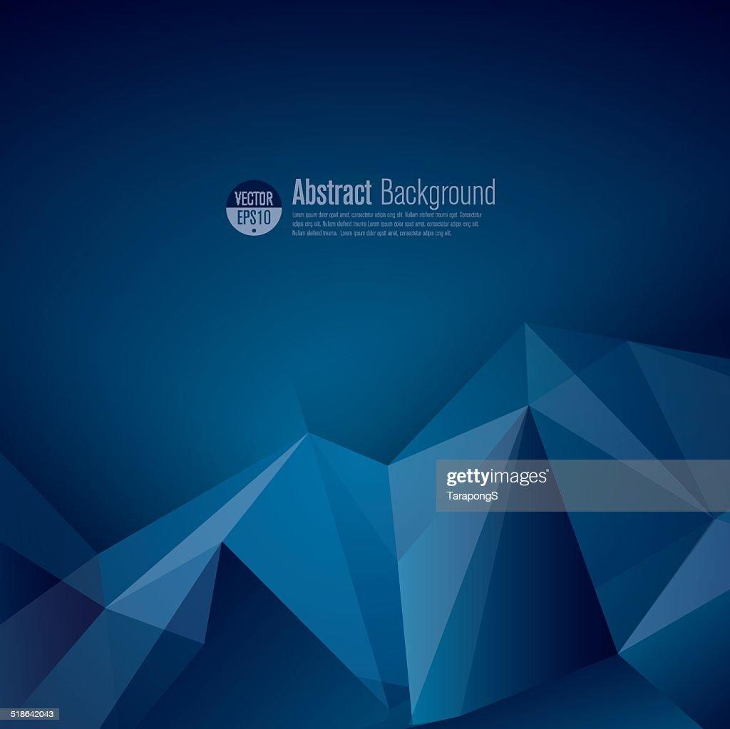 Dark blue polygonal vector background.