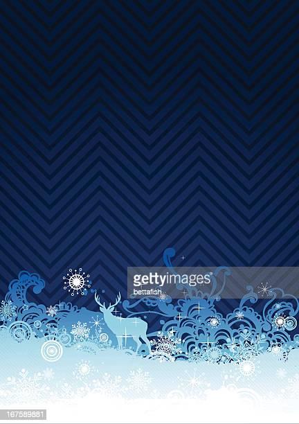 ilustraciones, imágenes clip art, dibujos animados e iconos de stock de azul oscuro fondo de invierno - azul marino