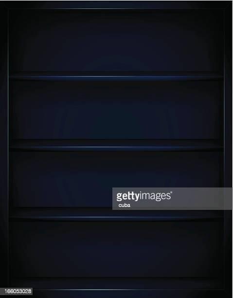 ダークブックシェルフの背景 - 書店点のイラスト素材/クリップアート素材/マンガ素材/アイコン素材