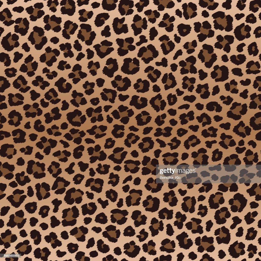 Dark brown irregular leopard seamless pattern