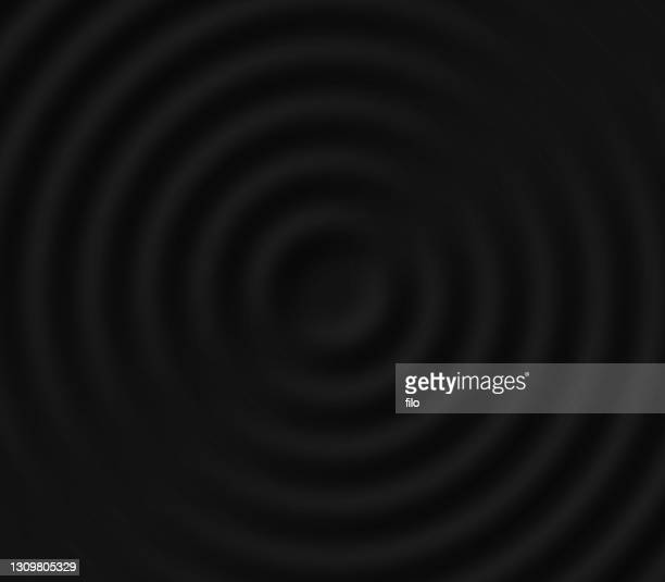 dark circle ripple background - ribbed stock illustrations