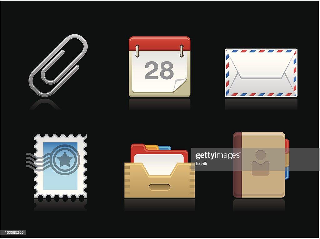 Dark collection - Correspondence : stock illustration