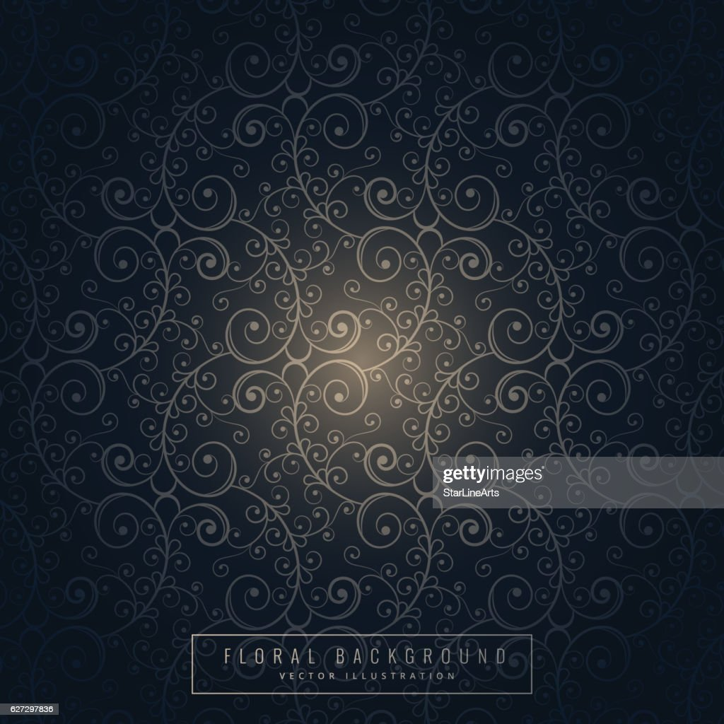 Dark Floral Background Design High Res Vector Graphic Getty Images