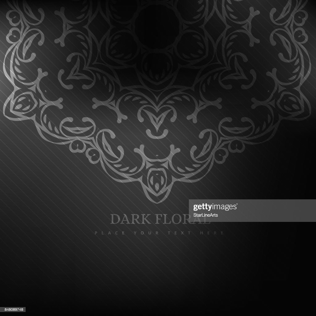 Dark Floral Background High Res Vector Graphic Getty Images