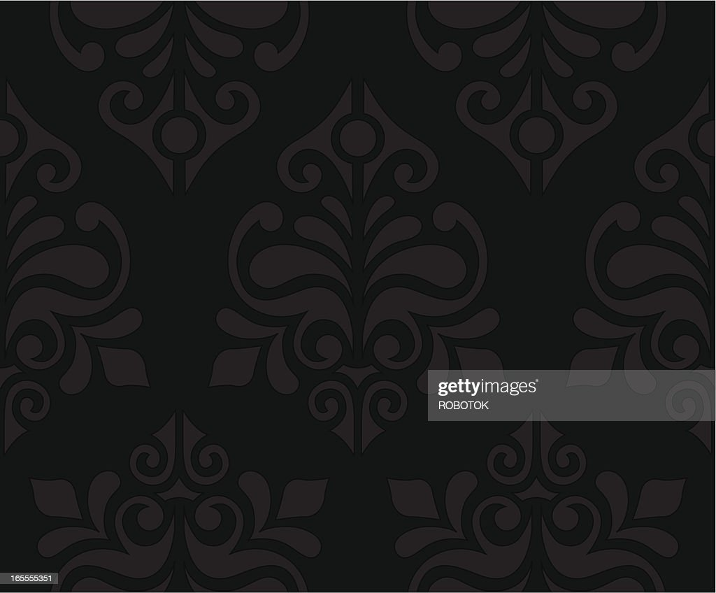 Dark Floral Wallpaper High Res Vector Graphic Getty Images