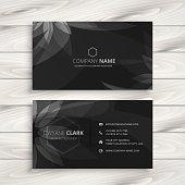 dark flower business card template vector design illustration