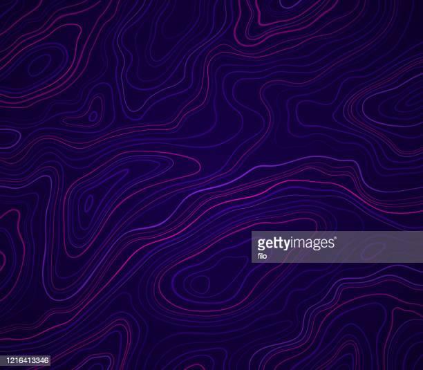 ダークグロー抽象地形 - 地誌学点のイラスト素材/クリップアート素材/マンガ素材/アイコン素材