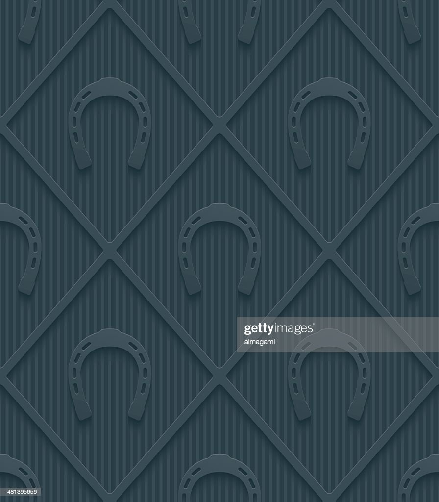 Dark gray horseshoes wallpaper.