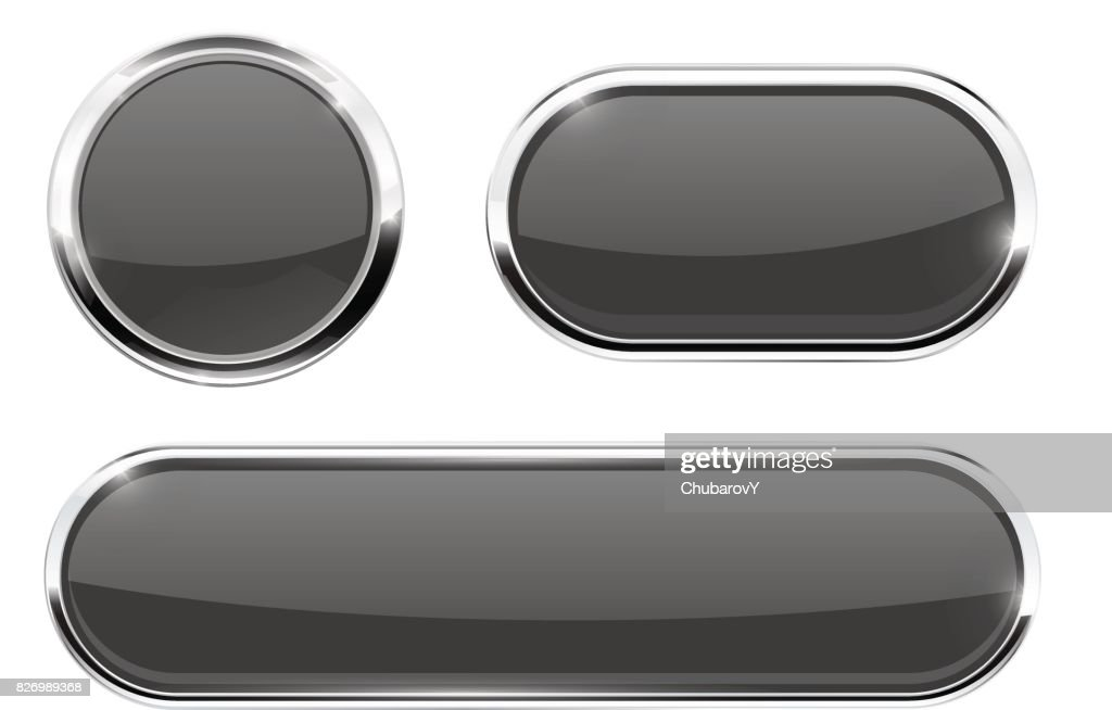 Dark gray web buttons