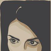 Dark haired girl portrait