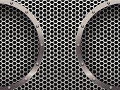 Dark hexagon metal grill