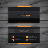 dark modern business card