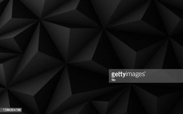 dunkle prisma strukturiert enden abstrakten hintergrund - schwarzer hintergrund stock-grafiken, -clipart, -cartoons und -symbole