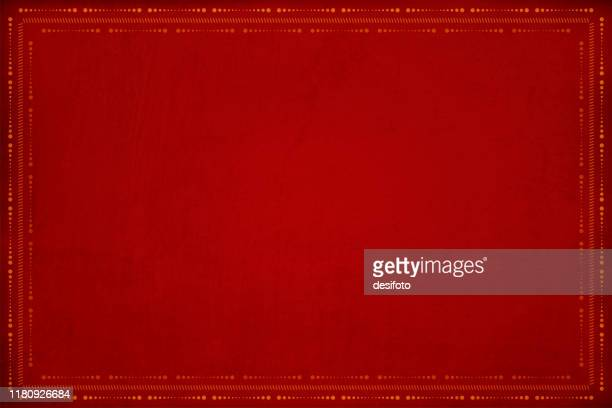 dark red grunge background with a pattern of row of dots and small angled lines, hatch-marks marked border - diwali decoration stock illustrations