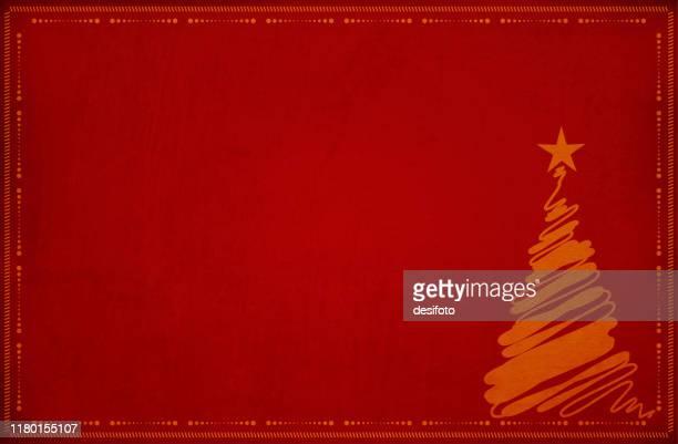 ilustraciones, imágenes clip art, dibujos animados e iconos de stock de fondo de grunge granate rojo oscuro, un árbol de navidad con una estrella en la parte superior y un borde de puntos y pequeñas líneas en ángulo - decorar