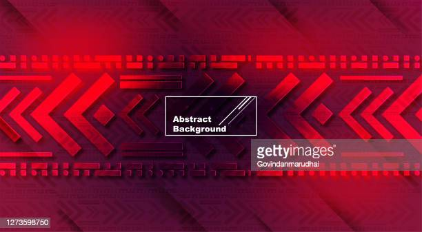 dark red tech background with lights arrows and stripes - focus on background stock illustrations