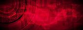 Dark red technology vector banner design