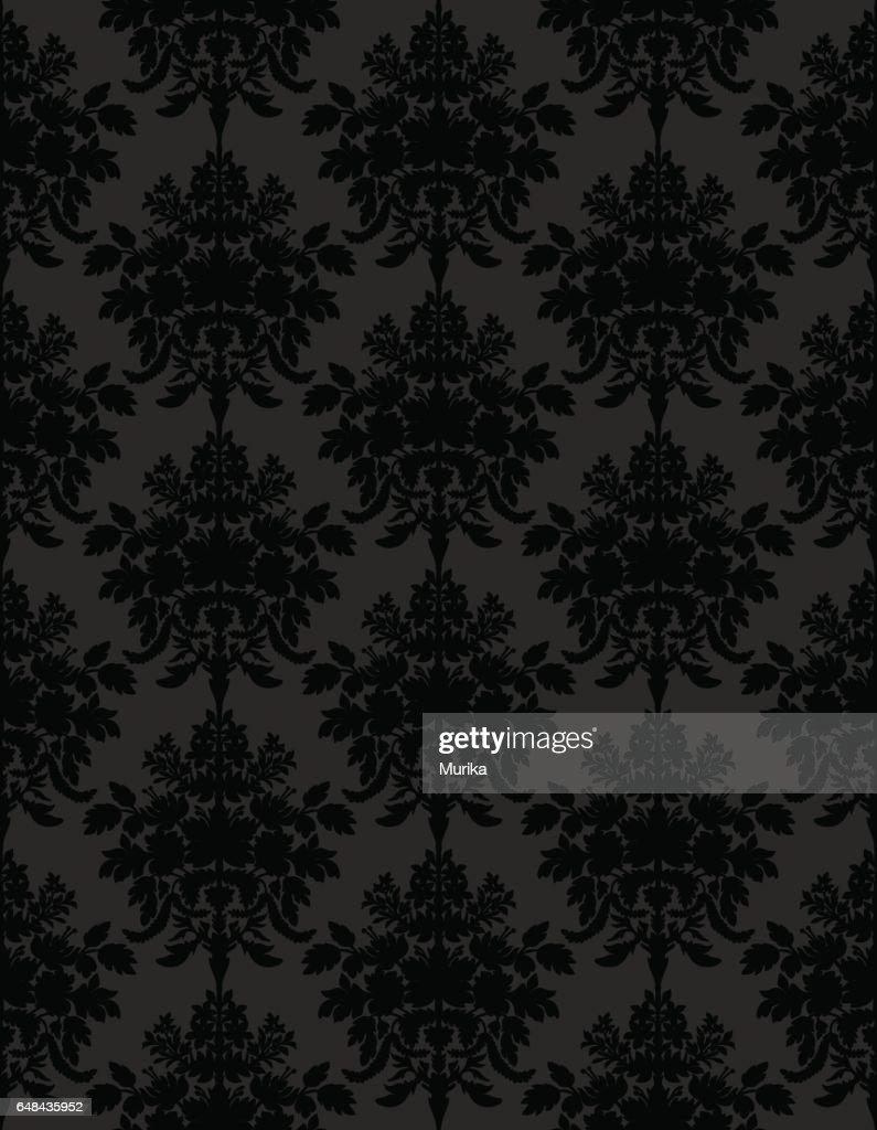 Dark retro seamless background.