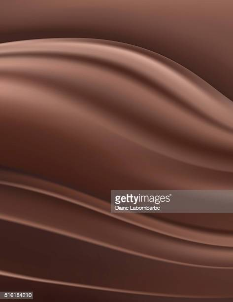 Dark Rich Chocolate Swirl Background
