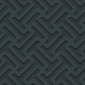 Dark seamless vector background with 3D effect.