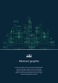 Dark urban scape. Night city skyline abstract background. Modern night city landscape. Eps10 Vector illustration